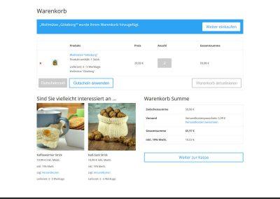 Solopreneur-Shop Warenkorb