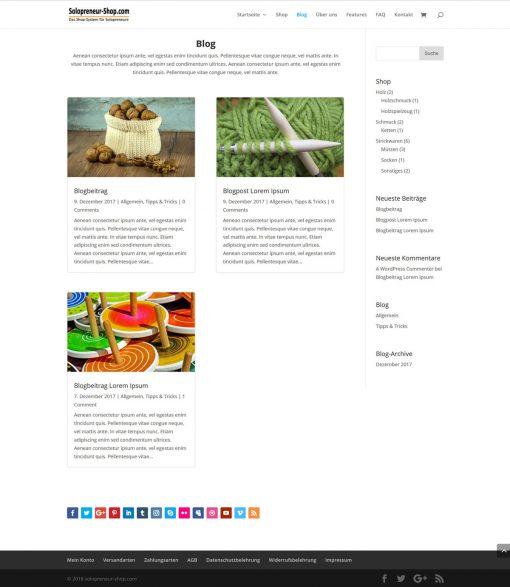 Solopreneur-Shop Blog