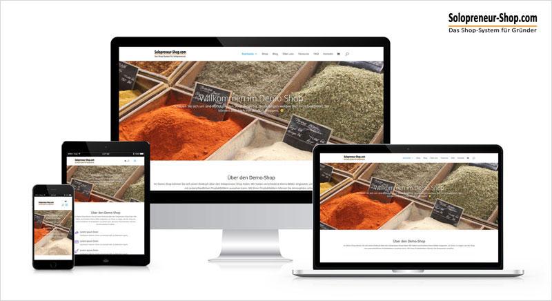 Online Shop für Solopreneure nun auch in der günstigen ECO-Version